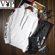 Playboy VIP Sweater Men's Hooded Set of Clothes Men's Handsome Autumn Set Men's Casual Wear Set