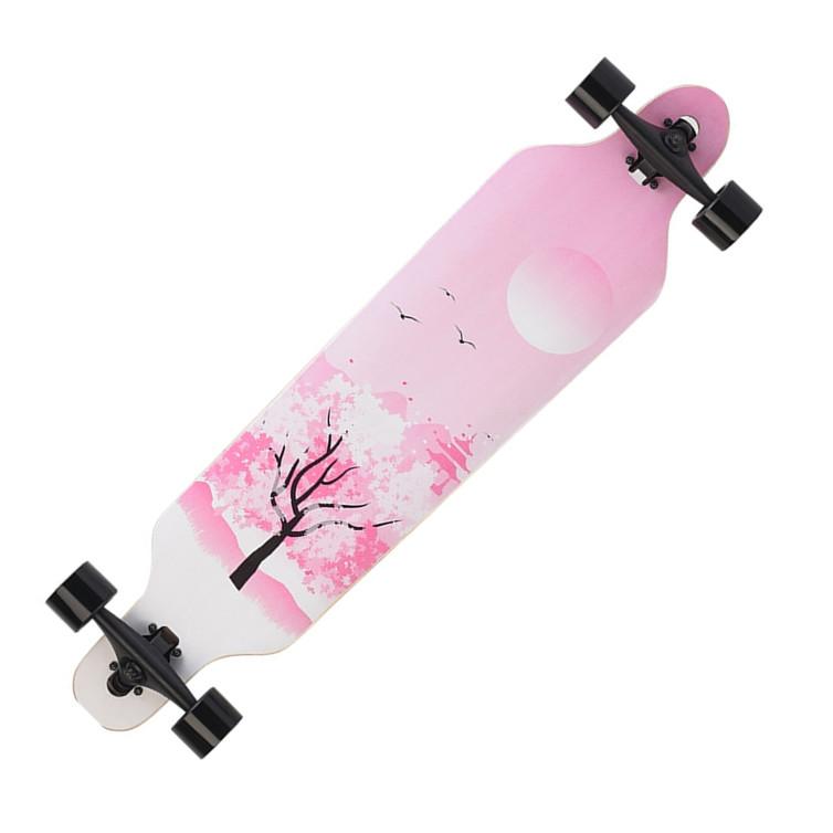 抖音长板公路滑板四轮滑板车青少年刷街男女生韩国舞板成人初学者