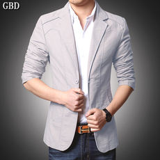 Suit men's business casual cotton jacket 2019 spring men's new slim Korean version of the single youth small suit