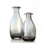 复古灰色北欧小清新花瓶美式玻璃水培透明插花花器餐桌装饰摆件图片