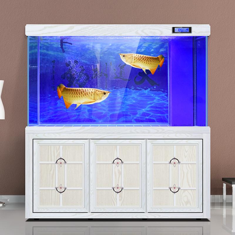 欧宝鱼缸水族箱客厅生态家用中大型底滤超白玻璃懒人免换水龙鱼缸