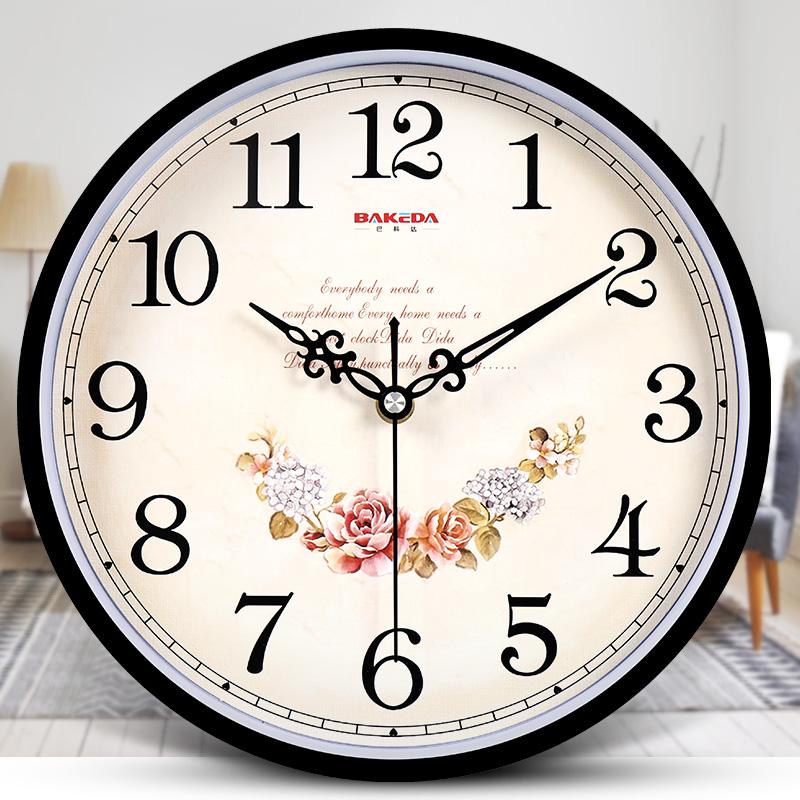 巴科达钟表挂钟客厅现代简约时钟家用静音个性创意时尚挂表石英钟