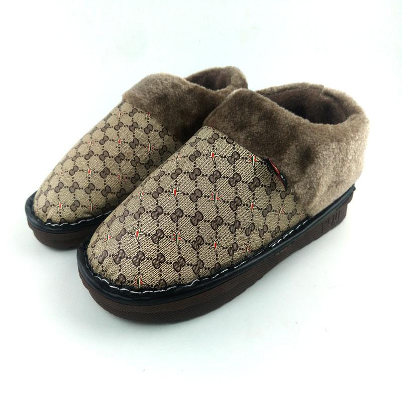 大码棉拖鞋男冬包跟特大号居家室内防滑加厚保暖毛毛454647棉鞋男