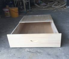 Custom drawer solid wood sliding pine bed under the storage box Locker Children's bed under the chest of drawers with wheels