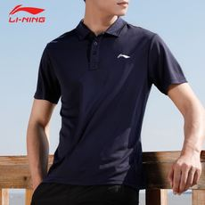 Li Ning POLO shirt male short sleeve 2018 summer new moisture absorption and quick-drying lapel leisure sports short-sleeved t-shirt