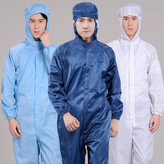 Anti-static overalls men's long sleeves one-piece tooling uniform dust-proof spray paint clean room food factory work clothes