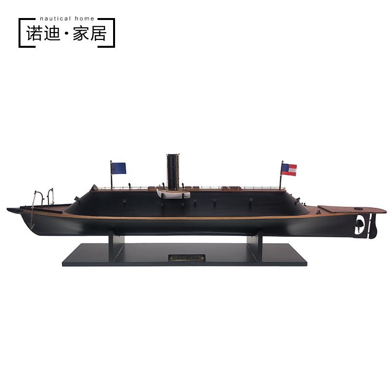 美国南北战争弗吉尼亚号战舰列舰装饰品摆件小创意船模型工艺品船