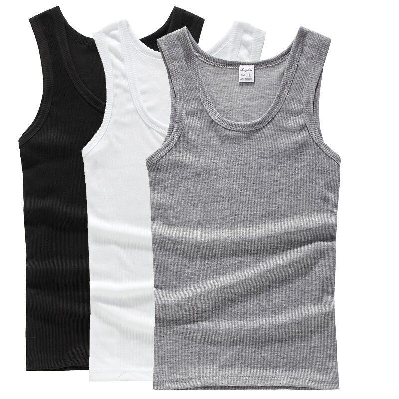 夏季男士背心健身跑步运动背心弹力内衫打底衫纯色无袖汗衫男上衣
