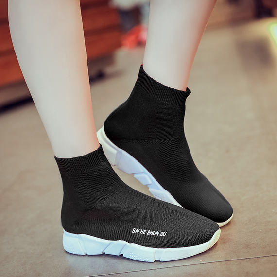 New new big children in the high-top elastic boots boots girls knitted wool socks shoes casual sports shoes tide