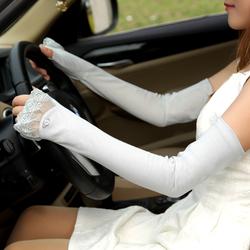 春夏新 女士防紫外线UV蕾丝防滑全棉防晒手套
