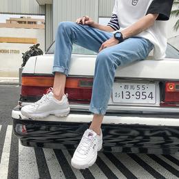 夏季薄款毛边牛仔裤男韩版潮流休闲九分裤子学生青年修身小脚裤男