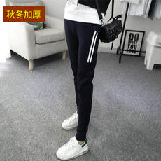 Maternity pants autumn and winter bottoming pants spring and autumn thin section 2017 new casual Harlan sports pants tide mother wearing spring clothes