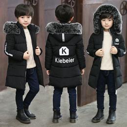男童冬装棉衣外套2018新款中大童秋冬加厚棉袄儿童中长款羽绒棉服