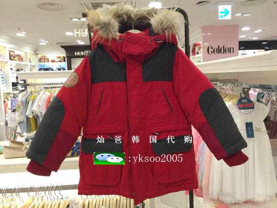 Curlysue cute show children's clothing new counters authentic boys down jacket down jacket CJW1GQJM55