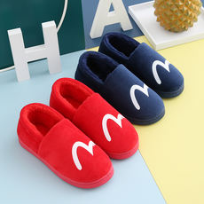 Cotton slippers male winter indoor home warm 2018 new thick bottom couple plush slippers female winter bag with
