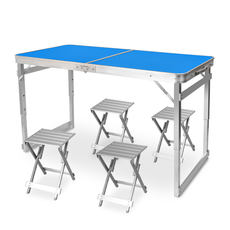 Folding table stall table simple long table home small dining table aluminum outdoor table and chairs portable push table