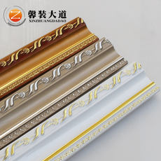 Xinzhuang Avenue European-style photo frame line wholesale solid wood picture frame line mirror border decoration line frame