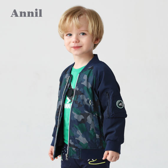 An Nai baby boy jacket cotton clothing tide 2018 new autumn and winter male baby jacket 0-6 years old short coat