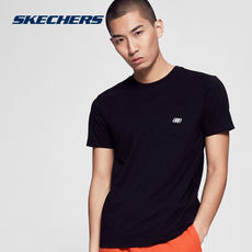 Skechers Skechers Men's New Knit Short-Sleeve T-Shirt Casual Short-Sleeved Shirt SAMS185133