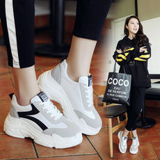 2018 new Harajuku thick sports shoes female Korean ulzzang wild casual running shoes retro old shoes