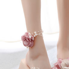 Original handmade flower anklet female can do wrist flower artificial flower anklet foot ring accessories jewelry head flower