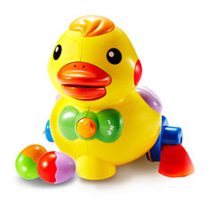 Oubei ducklings electric laying eggs duck ducklings infant baby learning crawling learning toys 6-12 months