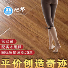 Xubang package installation environmentally friendly warm wood flooring composite 12mm household oak grain laminate flooring factory direct sales