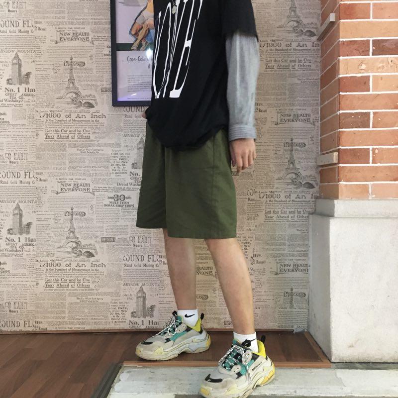 女士五分裤女宽松休闲短裤薄款高腰六分裤裙裤夏季裤子阔腿裤中裤