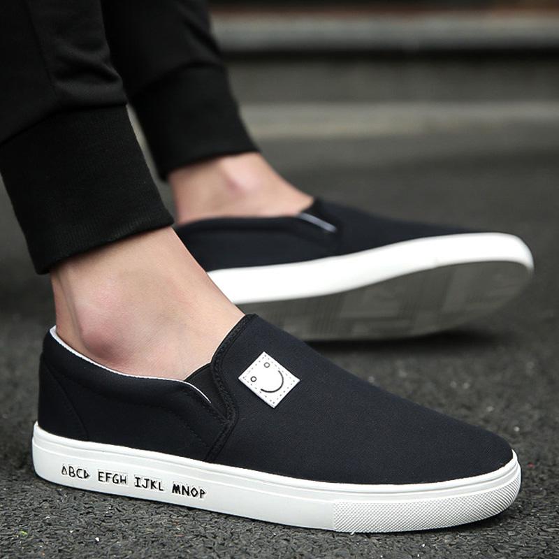 春季帆布鞋男低幫休閑草編麻繩中國風一腳蹬懶人男鞋老北京布鞋子