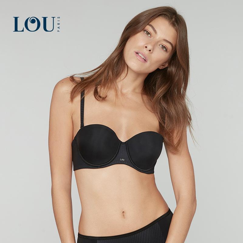 LOU 经典塑形系列可拆卸双肩带文胸 抹胸式法式无痕内衣女