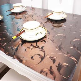 包邮定制餐桌垫pvc软玻璃桌布防水防油透明磨砂茶几垫耐温耐磨