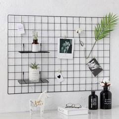 北欧风简约铁艺网格照片墙面装饰品卧室房间寝室宿舍墙上墙壁挂件