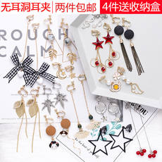 Cold wind elf ear clips without pierced female Korean simple fresh temperament tide student Sen super fairy earrings