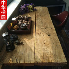 Old Elm Door Panel Desktop Bar Counter Wood Plank Wood Table Old Door Weathered Old Board Old Door Tea Table