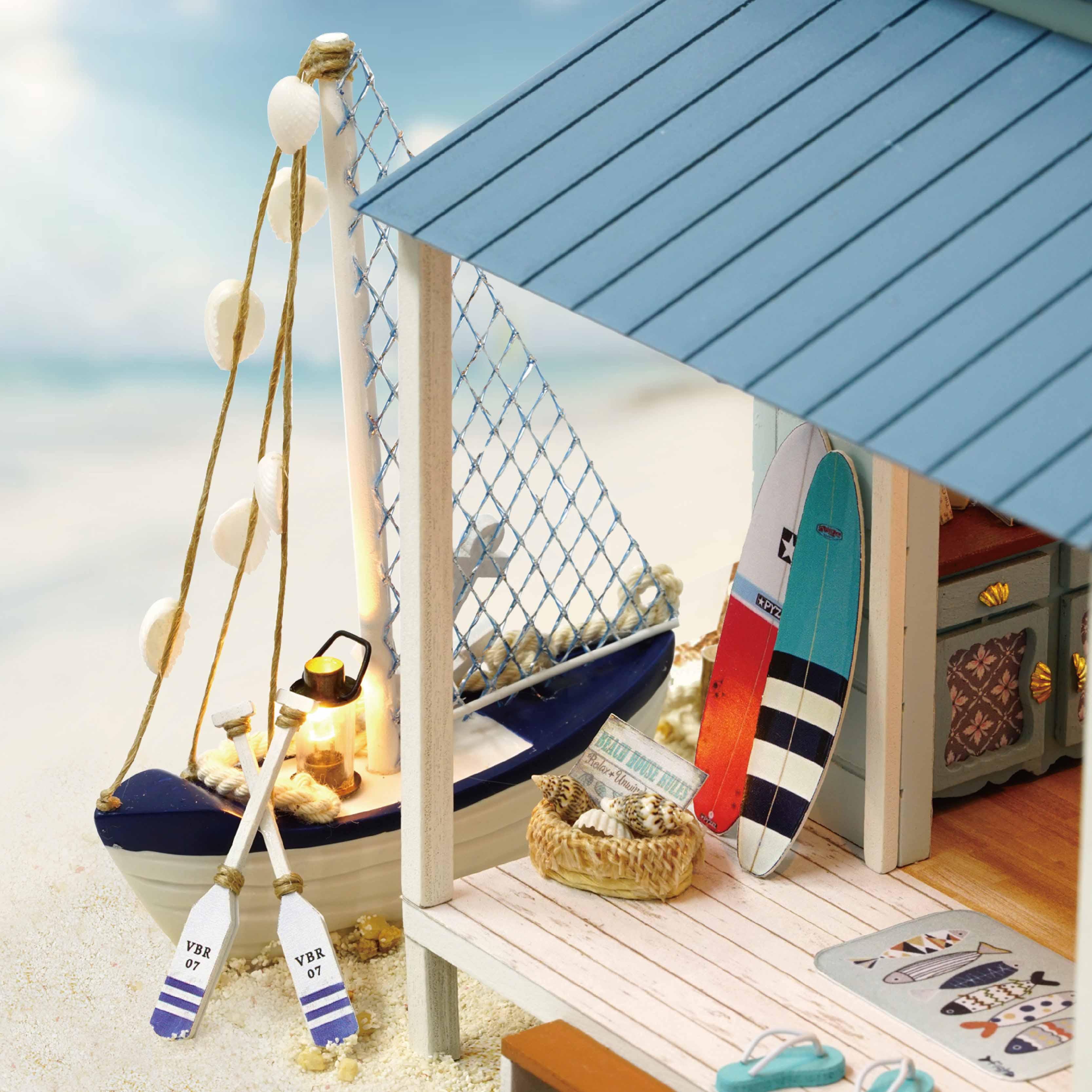 智趣屋diy小屋加勒比海手工制作房子公主别墅模