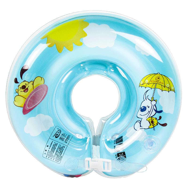 诺澳婴儿游泳圈宝宝安全可调双气囊颈圈新生儿脖圈 防后仰脖子圈