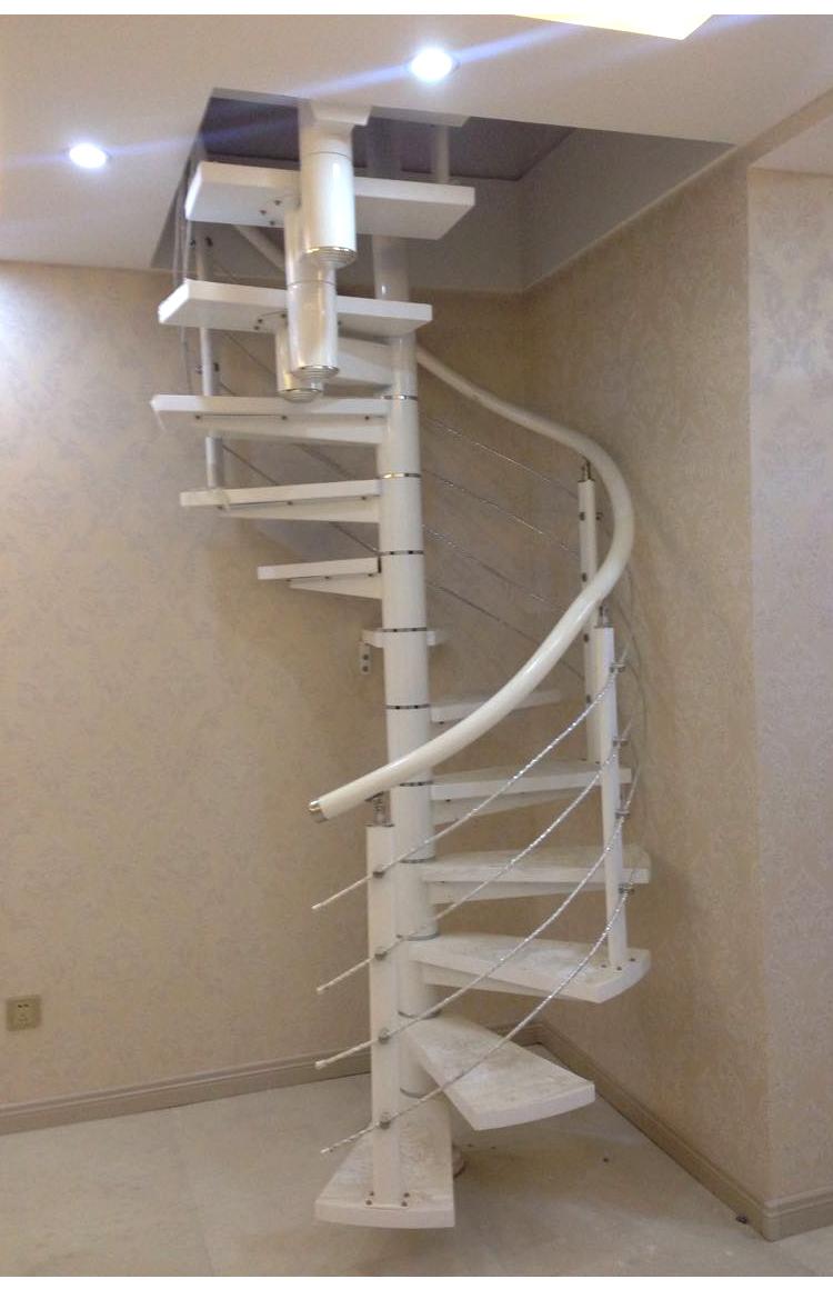 定制 百耀楼梯 室内楼梯 复式楼梯 阁楼楼梯 钢木楼梯 中柱旋转梯