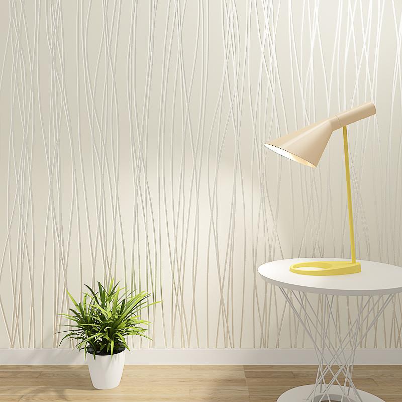 墙纸自粘卧室温馨 3d立体宿舍客厅壁纸现代简约条纹开店壁纸