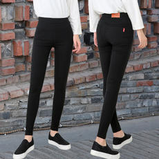 Leggings women wear black Korean version 2018 new tight feet thickening plus velvet high waist pencil was thin autumn and winter
