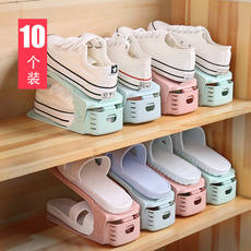 Plastic shoe rack student home shoe storage artifact provincial space dormitory rack shoe care shoe storage rack