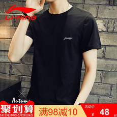 Li Ning short-sleeved t-shirt male 2019 summer authentic quick-drying black half sleeve men's shirt fitness sportswear men's clothing