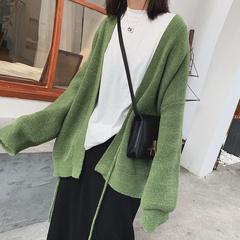ins超火的双面针织开衫2018新款韩版休闲宽松绑带针织外套女chic