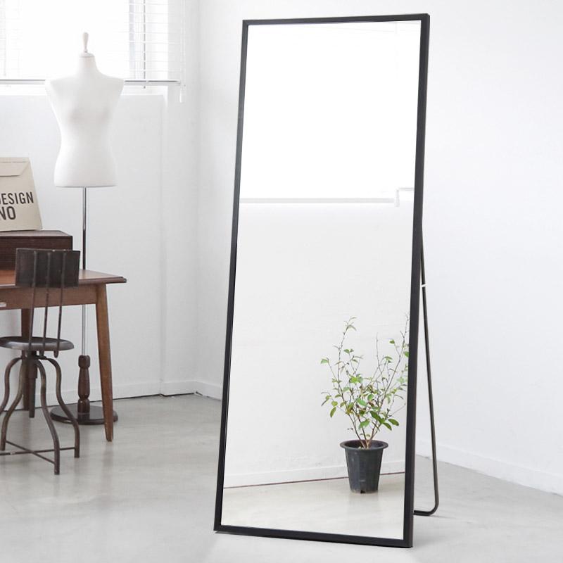 玉晶 简约穿衣镜全身镜落地支架镜立式家居试衣镜移动