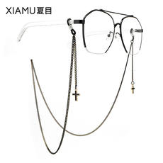 Glasses chain female retro Lolita hanging neck simple fashion hipster glasses chain male lanyard hanging chain snow chain