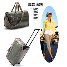 Recommended European and American cattle light snake skin can check-in trolley case portable business bag diagonal travel