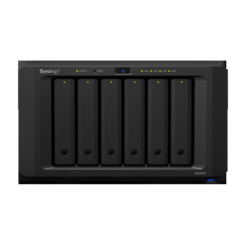 群晖nas存储器DS1618+企业6位盘云网络存储服务器群辉私有主机