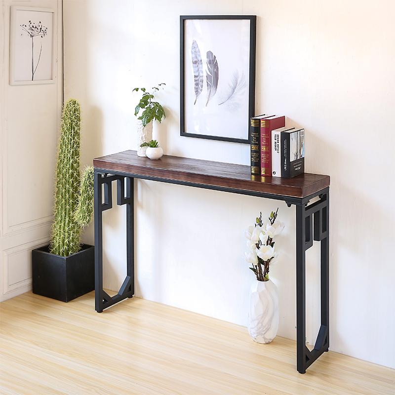 中式玄关桌铁艺供桌实木现代简约玄关台 条几门厅柜客厅沙发条案