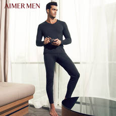 Mr. Aimo brand autumn and winter velvet double thick section wide waist men's warm pants Qiuku 73A573