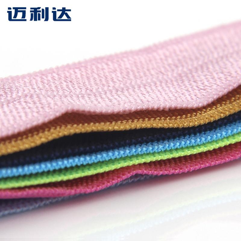 新品彩色涤纶包边带服装弹力布条衣服滚边条手袋箱包装饰松紧带