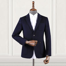Wool single suit 2018 autumn new sanding single western fashion casual suit jacket business middle-aged men's clothing